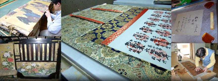 創業80余年 新古書画の表装、修復、軸装、額装、衝立、屏風、襖、障子
